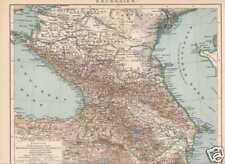 Kaukasien Georgien Armenien Kaukasus LANDKARTE um 1905