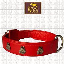 Premium Dog Collar WOZA German Shepherd Genuine Cow Napa Leather Handmade CE3337
