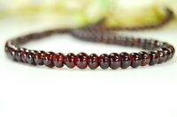 Schöne Edelsteinkette aus Granat in Radform Ø-7mm 47cm lange