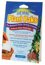 6pc Soil Moist PLANT PAKS Water Saving Hydrogel pouch for Garden Flowers
