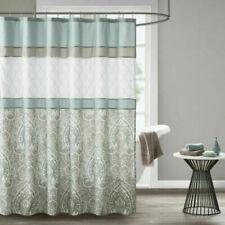 510 DESIGN Shawnee Print Embroidered Shower Curtain w/ Liner 72x72 New