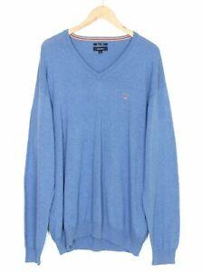 GANT V Neck Cotton Wool Jumper Sweater Men Size 3XL XXXL