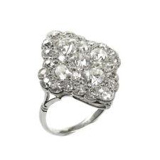 Prächtiger Art Deco 4.23 ct Diamant Ring in Platin um 1930 mit Gutachten Diamond