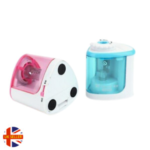 Pencil Sharpener Electric Automatic Battery Operated School Stationery UK