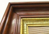SM DEEP ANTIQUE FIT 4 X 6 GOLD GILT PICTURE FRAME STENCIL WOOD FINE ART COUNTRY