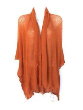 Sheer Cover Up Wrap Orange 3/4 Sleeve Fair Trade Hands To Hearts 1 Size XXL