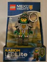 LEGO Toy Keychain Nexo Knights Action Figure LED Lite Light Aaron RARE HTF NEW