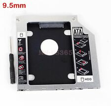 9.5mm Universal Caddy SATA 2nd HDD SSD Hard Drive CD/DVD-ROM Optical Bay adapter