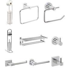Sets d'accessoires en chrome pour la salle de bain