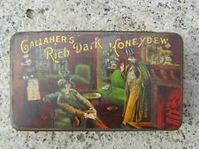 More details for rare gallagher's rich dark honeydew tobacco cigarette tin - irish advertising