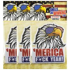 Merica Murica Eagle USA American flag 1776 aviators home car auto air fresheners