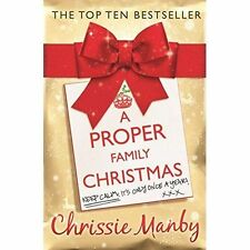 """""""AS NEW"""" A Proper Family Christmas, Manby, Chrissie, Book"""