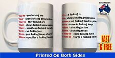 Grammar comma their they're there MUG funny rude swearing novelty Fathers Day