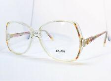 True Vintage Elan Clear w/ Red & Multi Color Light Watercolor Eyeglass Frames