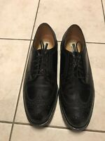 Men's Florsheim Imperial Brogue Wingtip 9.5 E Black Leather Dress Shoes