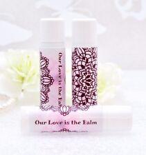 30 Vanilla Lip Balm Wedding Party Favor, Chapstick Wedding Favors