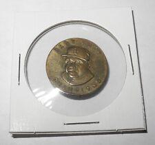 1935 Baseball Pin Coin Babe Ruth Boston Braves Quaker Oats Champions Pinback