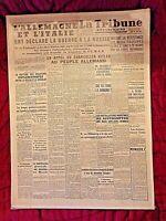 Journal du 23/06/41-La Tribune républicaine-Déclaration de guerre à la Russie
