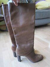 dvf diane von furstenberg soft brown leather pull on boots Size 9