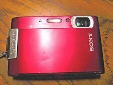 Sony Cyber-Shot DSC-T200 Red Cybershot Steady Shot Camera 8.1 for parts untested