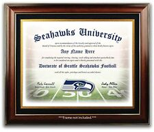 Seattle SEAHAWKS - Football Fan Certificate Diploma Man Cave - CHRISTMAS GIFT