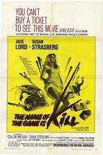 THE NAME OF THE GAME IS KILL Movie POSTER 27x40 Jack Lord Tisha Sterling Collin