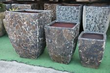 Outdoor Garden Patio Planter Pot Relic Square Milan Small Large Red Stone
