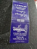 Vintage Matchbook D15 Collectible Ephemera lake placid New York charcoal pit