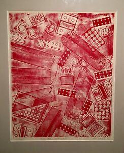 "Susan Freeman "" Western Medicine Meets Eastern "" Artist Proof Collagraph 🖼"