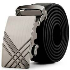 Fashion Mens Leather Automatic Buckle Belts Business Waist Strap Belt Waistband