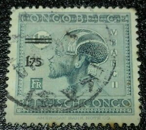Belgian Congo: 1927 Surcharge 1.75/1.50 Fr. Rare & Collectible Stamp.