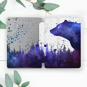 Space Bear Forest Abstract Art Case For iPad 10.2 Pro 12.9 10.5 9.7 Air 3 Mini