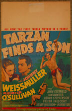 TARZAN FINDS A SON MOVIE POSTER1939 Window Card 14x22 Inch JOHNNY WEISSMULLER