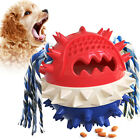 Food Leaking Ball Toy for Dog Aggressive Chewers Spiky Knobby Bouncing Squeaking