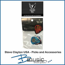 6 x Steve Clayton Playboy Mansion Key Guitar Picks - U.S.A. Licensed Product