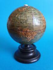 More details for antique clarks anchor cotton miniature terrestrial globe box