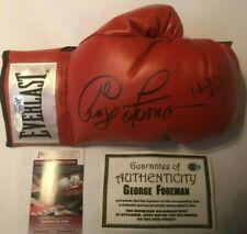 Evander Holyfield & George Foreman Autographed Everlast Red Boxing Glove JSA COA