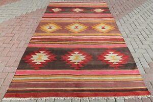 "Turkish Kilim Rug, Modern Kelim, Floor Rug, Wool Rug 68""x111"" Area Rugs, Carpet"