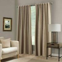"Paradise 84"" Rod Pocket/Back Tab Room Darkening Window Curtain Panel in Flax"