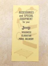 1960s Kaiser JEEP Wagoneer Gladiator Pick-Up Panel Delivery Accessories Catalog