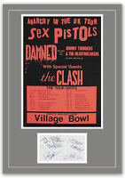 The Sex Pistols Concert Poster and Autographs Memorabilia Poster 2 Sizes
