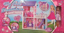 Mi primera casa de ensueño Niños Muñeca Casa Muñeca Barbie Conjunto de Juego Dormitorio Balcón 80pc +