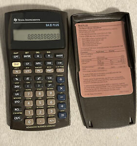 Texas Instruments BA II Plus Financial Calculator Brown Tested Working