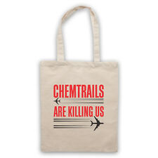 CHEMTRAILS ARE KILLING US PROTEST CONSPIRACY PLANES SHOULDER TOTE SHOP BAG