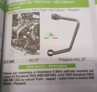 Chiave filtri olio Ford TDCI Citroen Peugeot HDI 1/2'' 27mm