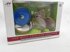 Children's Quality Coloured Toy Stainless Steel Kitchen Set Pots Pans  and Acces