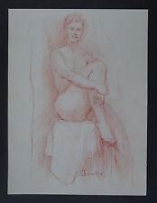"BERNARD DRUET (1935/2012)  Sanguine - ""  ETUDE NU FEMININ  ""   -  Signé"
