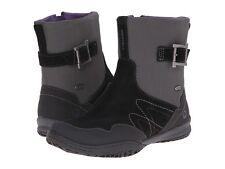 NEW Merrell Albany Sky Zip Waterproof Boots, Black Leather, Size Women 8.5 $150