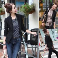 Plus Size Women One Button Slim Blazer Suit Jacket Casual Coat Tops Outwear