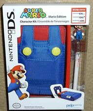 NINTENDO DS 3DS OFFICIAL PROTECTIVE CONSOLE CASE HOLDER STYLUS NEW! Super Mario
